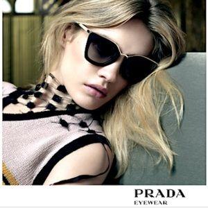 PRADA sunglasses, 53ss - Cat Eye , Black & Gold